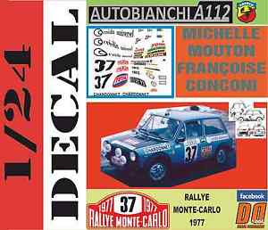 【送料無料】模型車 スポーツカー キットアバルトミシェルムートンラリーモンテカルロ listingdecal kit 124 autobianchi a112 abarth michelle mouton rally montecarlo 197 06