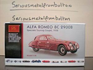 【送料無料】模型車 スポーツカー アルファロメオツーリングcmc m 107 alfaromeo 8c 2900 b 1938 speciale touring coup red 118