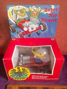 【送料無料】模型車 スポーツカー ヴィンテージレッドバロンプラスチックボックスダーラムホットホイールショーカーミントvintage red baron huge windup plastic show car mint in box durham hot wheels