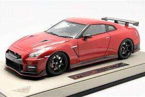 【送料無料】模型車 スポーツカー ニスモ118 make up nismo r35gtr 2017 vibrant red free shipping mr bbr