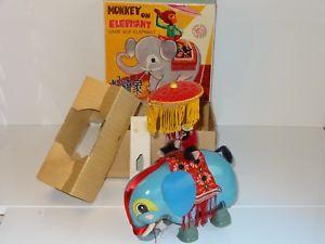 【送料無料】模型車 スポーツカー ブリキエレファントミントchina tinplate monkey on elephant mint boxed 1960s me 776