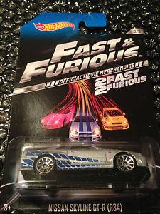 【送料無料】模型車 スポーツカー ホットホイールスカイラインシルバーhot wheels 2013 fast and furious nissan skyline gtr r34 in silver rare