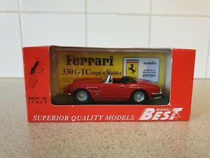 【送料無料】模型車 スポーツカー ベストモデルフェラーリスパイダーペンキスケールモデルカーbest models  ferrari 330 gtc spyder red paint 143 scale model car 9130