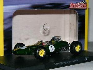 【送料無料】模型車 スポーツカー グランプリハス33 1965ジムクラーク143atlas grand prix lotus 33 1965 jim clark 143