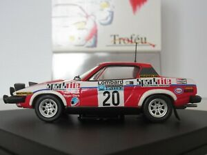 【送料無料】模型車 スポーツカー ラリースケールクラークウィルソンtrofeu, 2005, triumph tr7, rac rally 1980, 143 scale, r clark n wilson