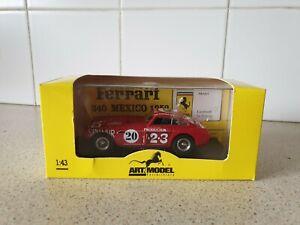 【送料無料】模型車 スポーツカー モデルフェラーリメキシコスケールモデルアート listingart models  1952 ferrari 340 mexico  143 scale model art055