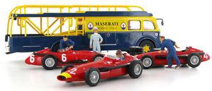 【送料無料】模型車 スポーツカー マセラティマセラティレースセットスケールbrumm maserati 250f 1957 race transporter 3 car set 143 scale