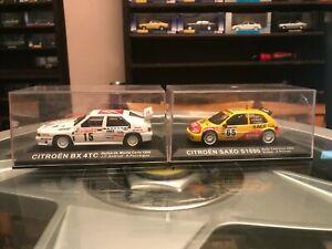 【送料無料】模型車 スポーツカー ラリーカー×ラリーカー listingixo citreon rally cars x2 1986 bx 4tc 2002 saxo s1600 143 vgc rally car collect