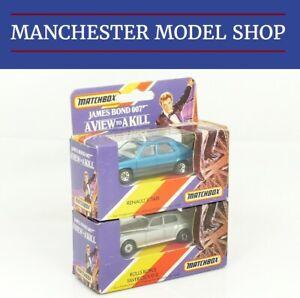 【送料無料】模型車 スポーツカー マッチマイルロールスロイスルノージェームスボンドmatchbox international mi 160 rollsroyce amp; mi 161 renault 11 james bond sealed
