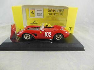 【送料無料】模型車 スポーツカー artモデルart027フェラーリ500 trc102 1959サンタバーバラj brumeyart model art027 ferrari 500 trc racing 102 1959 santa barbara j brumey