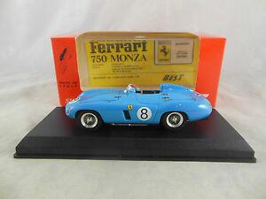 【送料無料】模型車 スポーツカー 8 munaronparigi 1956モデル9126フェラーリ750モンツァbest model 9126 ferrari 750 monza in light blue parigi 1956 racing no 8 munaron