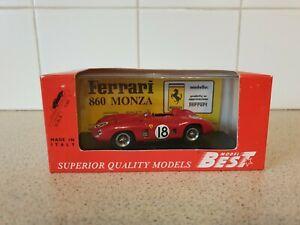 【送料無料】模型車 スポーツカー best models143scale model car ferrari 860monza 9117 sebring 1956best models  ferrari 860 monza sebring 1956 143 scale