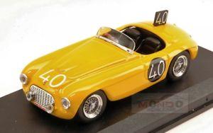 【送料無料】模型車 スポーツカー フェラーリクモ#スパアートアートferrari 166 mm spider 40 8th 24h spa 1949 roosdorpde ridder 143 art art204 mo