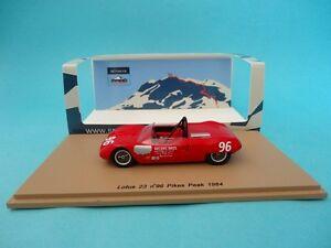 【送料無料】模型車 スポーツカー ロータス#ボビーアンサーパイクスピークヒルクライムラリースパークlotus 23 96 bobby unserpikes peak hillclimb rally 1964 143 spark pp003