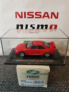 【送料無料】模型車 スポーツカー スカイライン#レッド143 nissan skyline r33 gtrvspec lm 1996 ebbro 43585 red