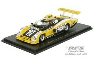 【送料無料】模型車 スポーツカー ルノーアルパインルマンスパークrenault alpine a442 24h le mans 1978 pironi jaussaud 143 spark 43lm78