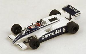 【送料無料】模型車 スポーツカー ブラバムf1 bt49c parmalat6モナコgp1981hrabaqueスパーク143 s4348モデルbrabham f1 bt49c parmalat 6 monaco gp 1981 h rabaque spark 143 s434