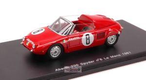 【送料無料】模型車 スポーツカー アバルトスパイダー#ルマンスパークabarth 700 s spyder 8 le mans 1961 143 spark sp1335
