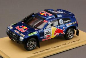 【送料無料】模型車 スポーツカー トアレグ#ダカールラリースパークモデルvw race touareg 3 300 3rd dakar 2011 143 spark s0825 model