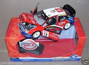 【送料無料】模型車 スポーツカー プレステージシトロエンクサララリーサンレモローブエレナリフ listingsolido prestige 118 citroen xsara wrc rally sanremo 2003 loeb elena rif 9049