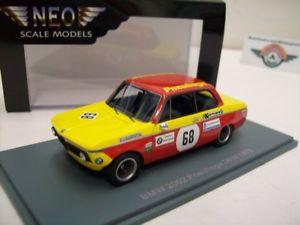 【送料無料】模型車 スポーツカー #ネオbmw 2002 68 pneuhoge drm 1970, yellowred, neo 143, ovp