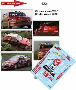 【送料無料】模型車 スポーツカー デカールシトロエンクサラダニウェールズラリーラリーdecals 143 ref 1221 citroen xsara wrc dani sordo wales rally 2006 rally