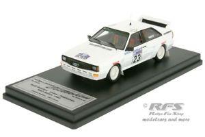 【送料無料】模型車 スポーツカー アウディクワトロラリーレーヌaudi quattro a2 rac rally 1983laine 143 trofeu scala 43 q83gb23