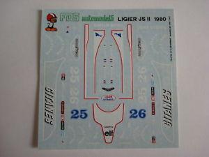 【送料無料】模型車 スポーツカー デカールキットラフィートデカールdecals kit 143 car ligier js 11 f1 1979 depaillerlafitte 143 decals fds