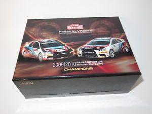 【送料無料】模型車 スポーツカー ランサーエボアラウージョラリーポルトガルフランスセット143 mitsubishi lancer evo ix amp; x araujo rally portugal 2009 amp; france 2010 set
