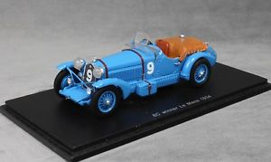 【送料無料】模型車 スポーツカー スパークアルファロメオルマンspark alfa romeo 8c 2300 winner 1934 le mans chinetti amp; etancelin 43lm34 143