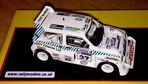【送料無料】模型車 スポーツカー ネットワークロンバードラリーデビッドコードixo 143 mg metro 6r4 lombard rac rally 1986 david gillanders code3