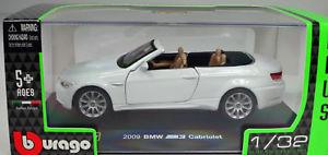 【送料無料】模型車 スポーツカー bmw m32009bburago13 2bmw m3 cabriolet 2009 white scale 13 2 by bburago