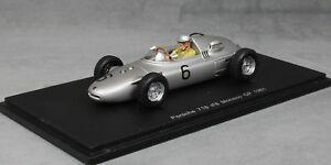 【送料無料】模型車 スポーツカー スパークポルシェモナコフォーミュラグランプリハンスヘルマンspark porsche 718 monaco formula 1 grand prix 1961 hans herrmann s1867 143