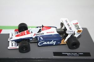 【送料無料】模型車 スポーツカー スケールフォーミュラカーコレクションモデルアイルトンセナ143 scale formula one car collection toleman tg 184 f1 model ayrton senna 1984