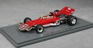 【送料無料】模型車 スポーツカー スパークロータスアメリカグランプリエマーソンフィッティパルディspark lotus 72c usa grand prix winner 1970 emerson fittipaldi s5345 143