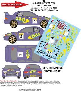 【送料無料】模型車 スポーツカー 132decals ref16subaru impreza wrc colin mc rae rally mountedcarlo 1997decals 132 ref 16 subaru impreza wrc colin mc rae ra