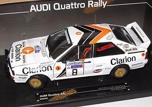 【送料無料】模型車 スポーツカー アウディクワトロクラリオンロンバードラリー118 audi quattro a2 clarion lombard rac rally 1985 peklundbcederberg