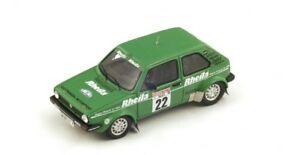 【送料無料】模型車 スポーツカー フォルクスワーゲンゴルフチームラリードイツスパークシングルメートルvolkswagen golf gti team rheila gr2 winner rally german 1981 spark 143 sg070 m