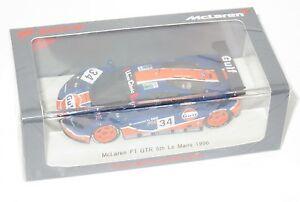 【送料無料】模型車 スポーツカー マクラーレンガルフレーシングルマン#143 mclaren f1 gtr lm bmw gulf racing le mans 24 hrs 1996 34