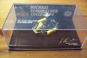 【送料無料】模型車 スポーツカー 143michael schumacher nr 06go kart yellow benetton overall143 michael schumacher nr 06 go kart yellow benetton overall