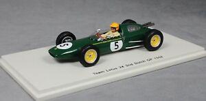 【送料無料】模型車 スポーツカー スパークロータス241962オランダグランプリトレヴァーテーラーs4272 143 spark lotus 24 2nd place 1962 dutch grand prix trevor taylor s4272 143