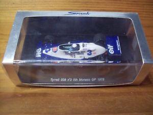 【送料無料】模型車 スポーツカー 143spark s1731 tyrrell 0083 didier pironi5monaco gp 1978143 spark s1731 tyrrell 008 3 didier pironi 5th monaco gp 1978