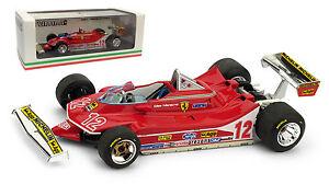 【送料無料】模型車 スポーツカー フェラーリ#フランスグランプリジルヴィルヌーヴサーキットスケールbrumm ferrari 312 t4 12 french gp 1979 gilles villeneuve 143 scale