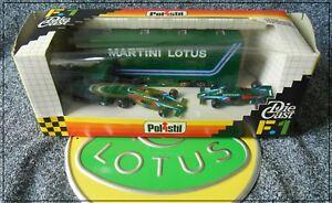 【送料無料】模型車 スポーツカー マティーニロータストランスポーターロータスアンドレッティボックスセットチームpolistil martini f1 lotus transporter 2 lotus 80 set rj111 andretti boxed team
