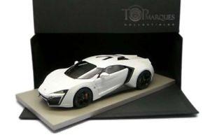【送料無料】模型車 スポーツカー lykenスポーツ ホワイト118モデルカーlyken hypersport white 118 top marques model car
