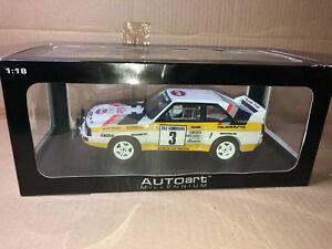 【送料無料】模型車 スポーツカー rally 118アウディquattroスポーツswbウォルターrorhlモンテカルロ1985wrc gp brally 118 autoart audi quattro sport swb walter rorhl monte carlo 1