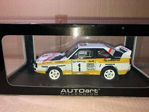 【送料無料】模型車 スポーツカー rally 118アウディquattroスポーツswb blomqvistモンテカルロ1985wrc gp brally 118 autoart audi quattro sport swb blomqvist monte carlo 1985