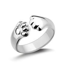 送料無料 お気に入 猫 キャット リング スターリングシルバーtenjshunzhu pure 好評受付中 925 sterling cute women for silver rings