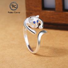 送料無料 猫 キャット リング ボーボーカバーデザイナーbobo 大放出セール cover designer for women silver ring cat 日本限定 cute plated