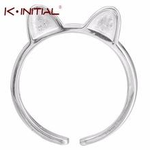 送料無料 Seasonal Wrap入荷 配送員設置送料無料 猫 キャット リング デザインkinitial design beautiful for 925 silver cute women